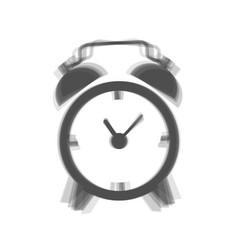 Alarm clock sign gray icon shaked at vector