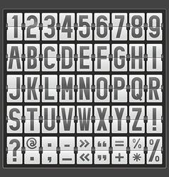 Alphabet of mechanical panel vector
