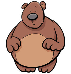 Bear animal cartoon character vector