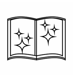 Book of wizard icon outline style vector
