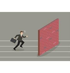 Businessman race to dead end vector