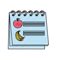 Calendar nutrition plan vector