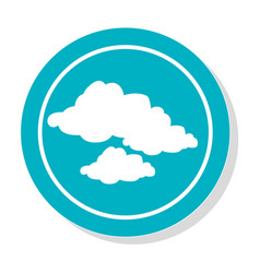 circular frame with silhouette set clouds icon vector image