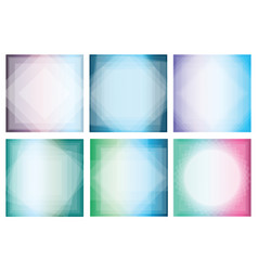 collection of abstract gradient backgrounds with vector image vector image