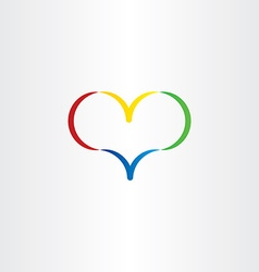 colorful heart logo symbol love valentine icon vector image vector image
