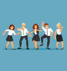 dancing business people vector image vector image