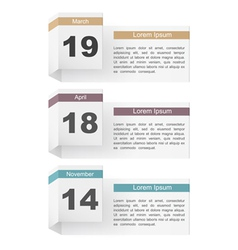 Events calendar vector