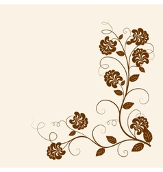 Flowers branch on the grunge background vector image vector image
