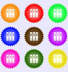 Folder icon sign big set of colorful diverse vector