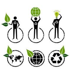 Go green signs ideas vector