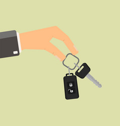 hand holding car key buying or rent car vector image