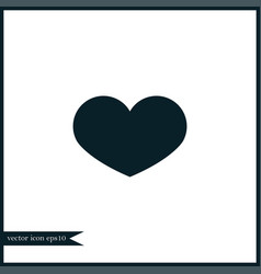 Heart icon simple vector