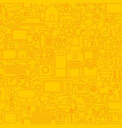 Household appliance line tile pattern vector