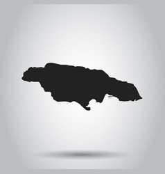jamaica map black icon on white background vector image