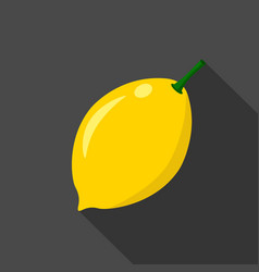 lemon cartoon flat icondark background vector image vector image