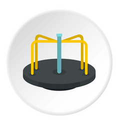 Merry go round icon circle vector