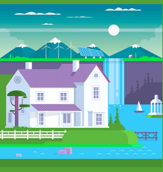 modern prefabricated family house vector image vector image