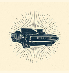muscle car vintage styled vector image vector image