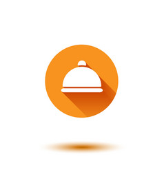 orange flat long shadow cloche vector image