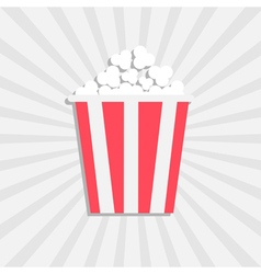 Popcorn Cinema icon in flat design style Isolated vector image
