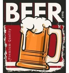 Poster retro beer vector