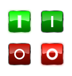power switch icons buttons vector image vector image