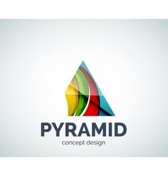Pyramid logo business branding icon vector