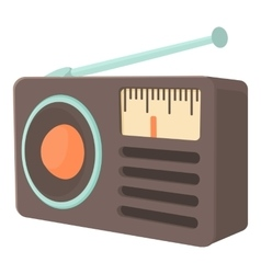 Retro radio receiver icon cartoon style vector