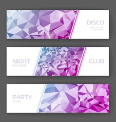 Set of banners with geometric background vector