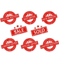 Set of Rubber Stamps sale vector image