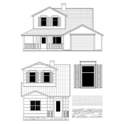set of surburb house vector image