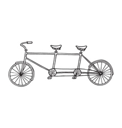 tandem bicycle icon vector image