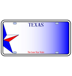Texas license plate vector