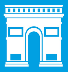 Triumphal arch icon white vector