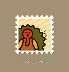 Turkey stamp harvest thanksgiving vector