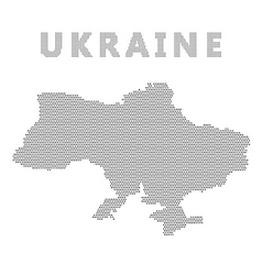 Ukraine map with gray dot vector image vector image