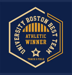 university boston best vector image vector image