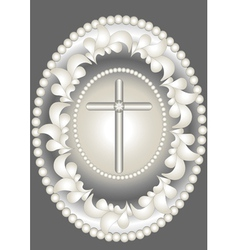 Abstract medallion christ vector
