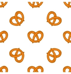 Seamless pattern with pretzels for oktoberfest vector