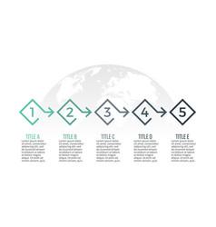 Business infographics presentation slide diagram vector