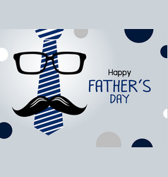 happy fathers day concept design vector image