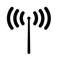 Radio signal the black color icon vector