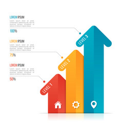 Arrow infographic template for data visualization vector