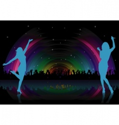 rainbow dance party vector image
