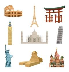World famous landmarks vector
