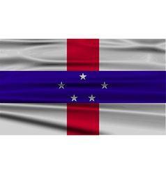 Flag of netherlands antilles with old texture vector