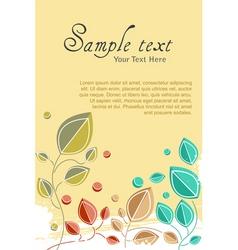 Natural card vector