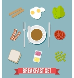 Breakfast small set vector