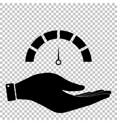 Speedometer sign flat style icon vector
