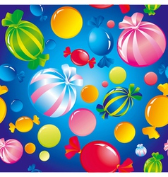 Seamless sweets and sugar candies vector